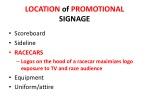 location of promotional signage