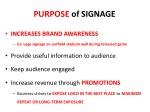 purpose of signage