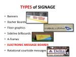 types of signage