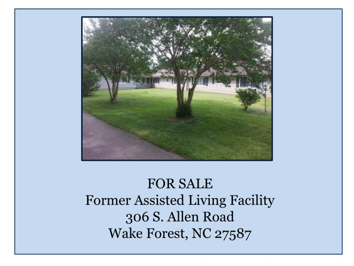 for sale former assisted living facility n.