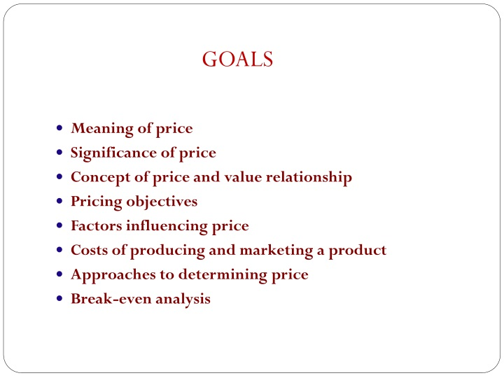 meaning of price significance of price concept n.