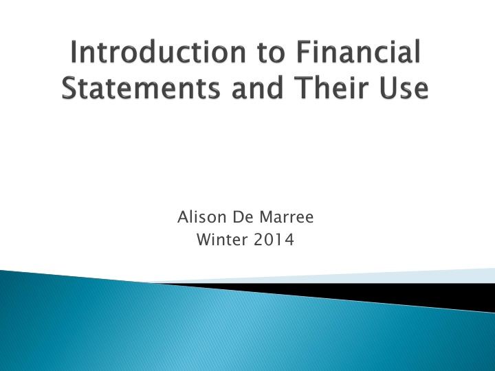 introduction to financial statements and their use n.