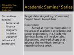 academic seminar series