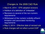 changes to the 2009 c d rule