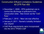 construction effluent limitations guidelines 40 cfr part 450