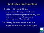 construction site inspections