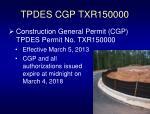 tpdes cgp txr150000