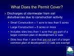 what does the permit cover