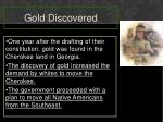 gold discovered