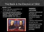 the bank the election of 1832