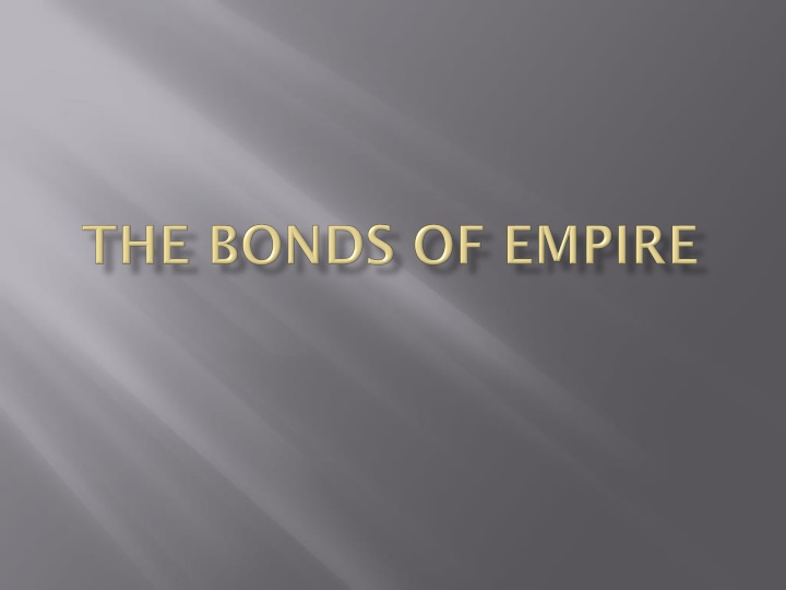 the bonds of empire n.