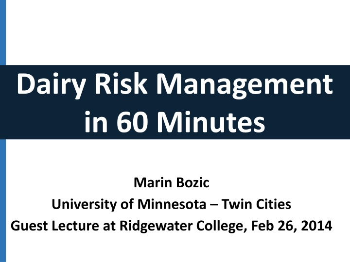 Marin bozic university of minnesota twin cities guest lecture at ridgewater college feb 26 2014