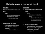 debate over a national bank