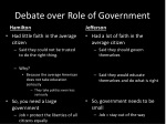 debate over role of government