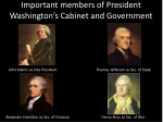 important members of president washington s cabinet and government