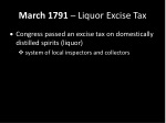 march 1791 liquor excise tax