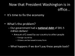 now that president washington is in office