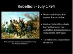 rebellion july 1794
