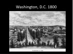 washington d c 1800