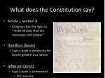what does the constitution say