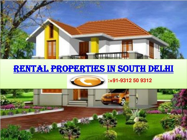 rental properties in south delhi n.