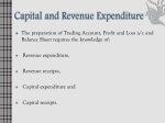 capital and revenue expenditure