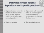 difference between revenue expenditure and capital expenditure