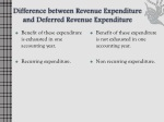 difference between revenue expenditure and deferred revenue expenditure