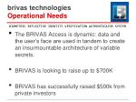 brivas technologies operational needs