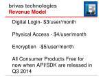 brivas technologies revenue model