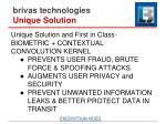 brivas technologies unique solution