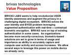 brivas technologies value proposition