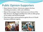 public opinion supporters