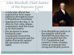 john marshall chief justice of the supreme court