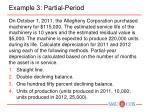 example 3 partial period