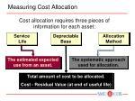 measuring cost allocation
