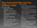 the haymarket riot and the pullman strike
