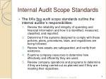 internal audit scope standards