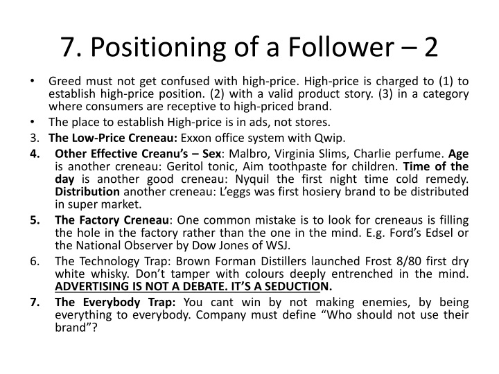 7. Positioning of a Follower – 2
