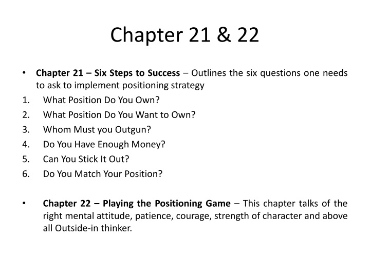 Chapter 21 & 22