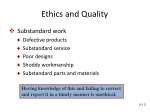 ethics and quality