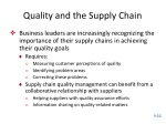 quality and the supply chain
