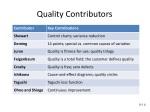 quality contributors