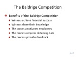 the baldrige competition