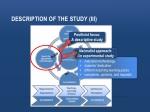 description of the study iii
