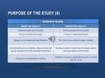 purpose of the study ii