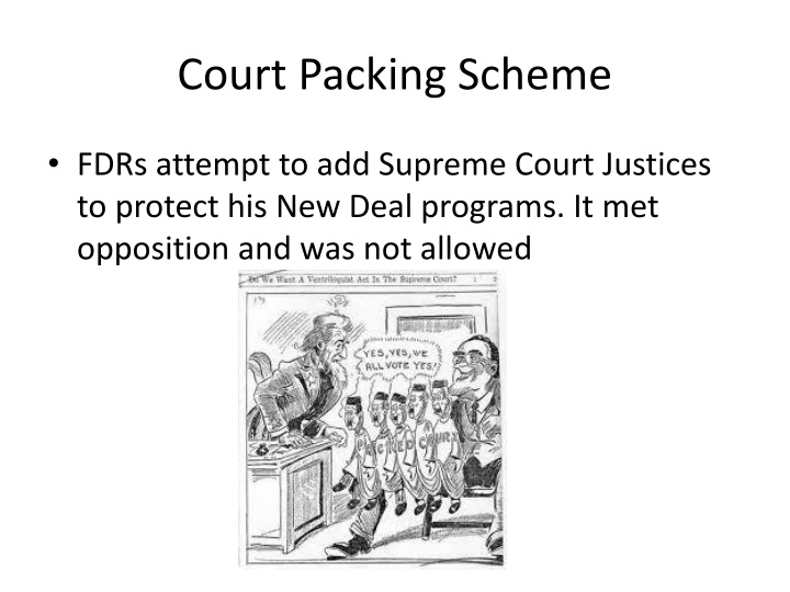 Court Packing Scheme