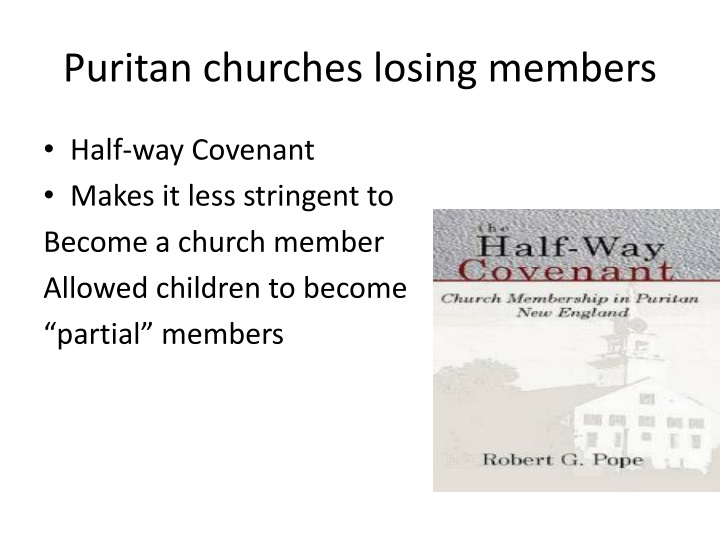 Puritan churches losing members