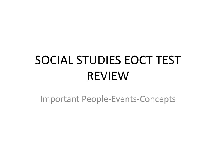 Social studies eoct test review