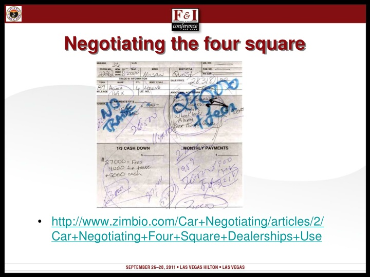 Negotiating the four square